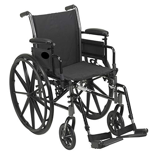 MRT SUPPLY Medical Cruiser III Lightweight Manual Mobility Wheelchair with Ebook ()