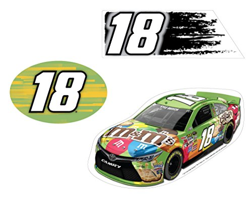 - NASCAR #18 KYLE BUSCH 3 PC DECAL SET-KYLE BUSCH 3 PIECE STICKER SET NEWEST STYLE
