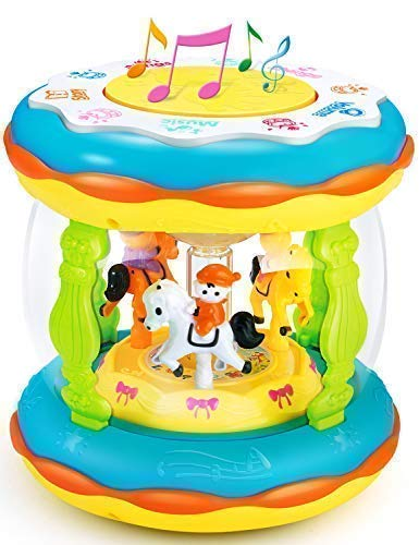 Babies and Toddlers Musical Drum Toys with Lights, Infants and Kids Musical and Educational Toys for 1 2 3 4 5 Year Old Boys and ()