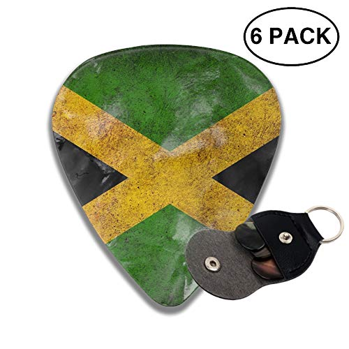 - Jamaican Flag 3D Color Printed Guitar and Bass Pick Gift Copper