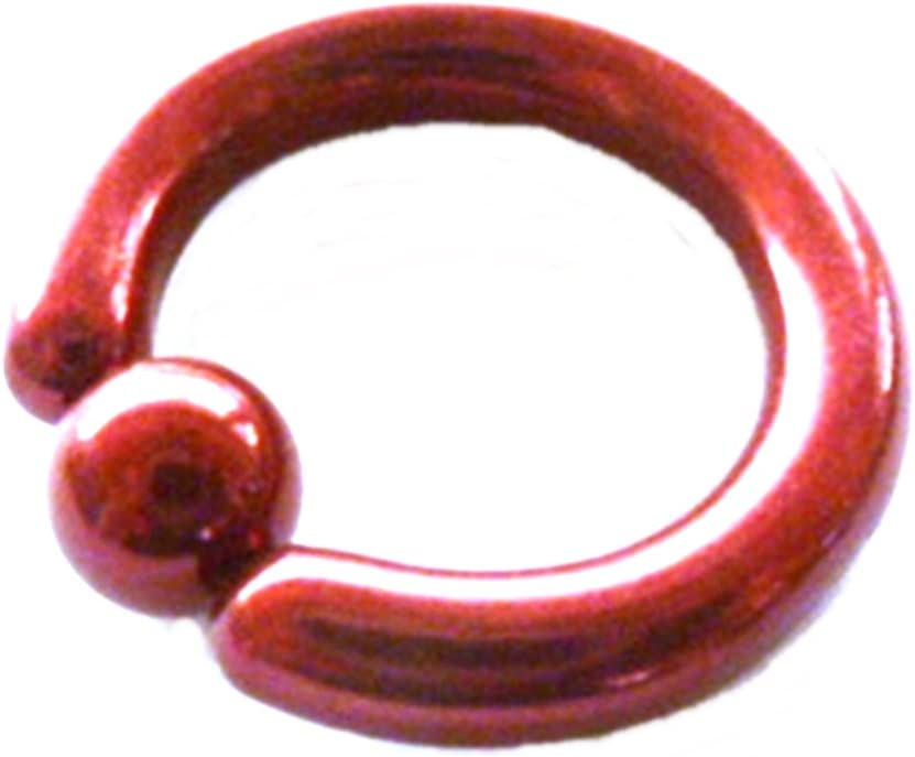Captive Nipple Ring Red Titanium Heavy 6 Gauge 5//8 Body Jewelry