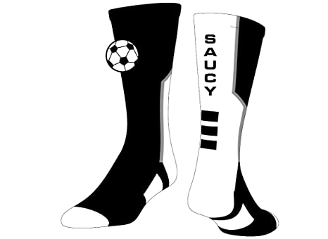 99ffc4c6dfc13 Amazon.com: SocksRock Soccer Logo Athletic Crew Saucy Sports Socks ...