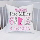 Minnesota Birth Announcement Pillow