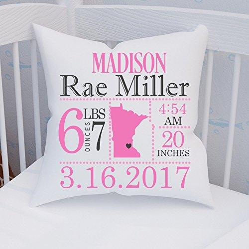 Minnesota Birth Announcement Pillow by Jammin' Threads