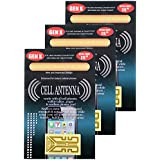 3 Pack Antenna Boosters for Cell Phones Tablets Pagers PDA's Walkie Talkies Cordless Home Phones