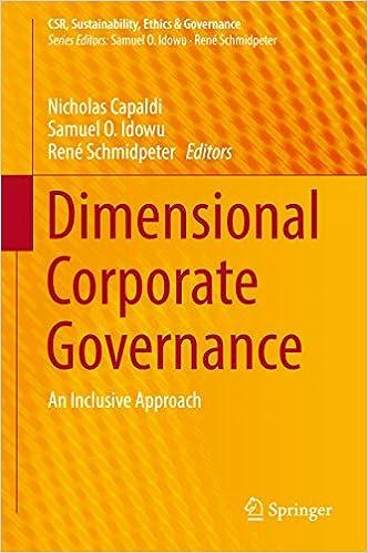 Amazon com: Dimensional Corporate Governance: An Inclusive