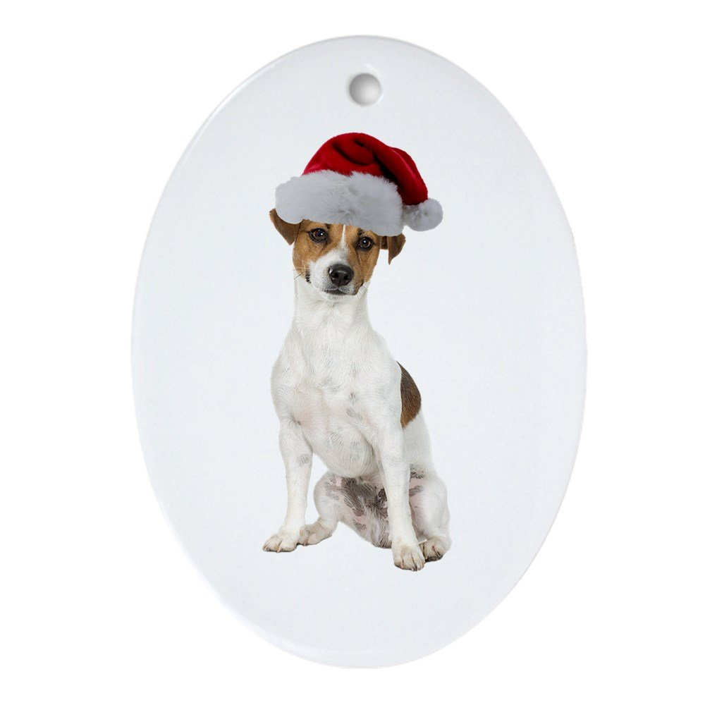 CafePress - Jack Russell Terrier Xmas - Oval Holiday Christmas Ornament