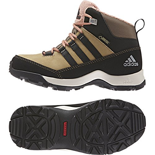 Adidas Outdoor 2015 Kid's CW Winter Hiker Mid GTX Winter Sport Shoes - B33263 (Cardboard/Black/Raw Pink - 2) by adidas
