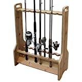 used fishing rods - Rush Creek Creations Double Sided 16 Fishing Rod Rack with Hidden Hardware