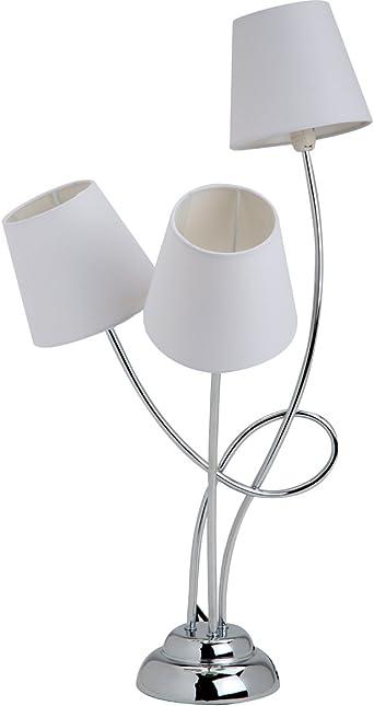 Lámpara de mesa, diseño de 3 tulipas cilíndricas para lámparas de ...