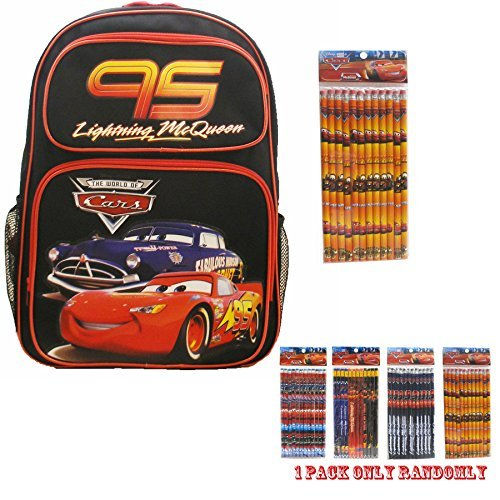 Disney Car Black Backpack 16