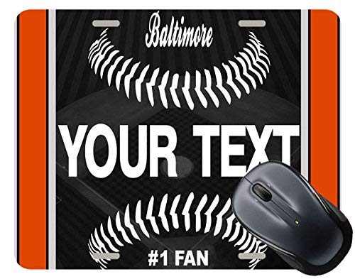 BRGiftShop Personalize Your Own Baseball Team Baltimore Square Mouse ()