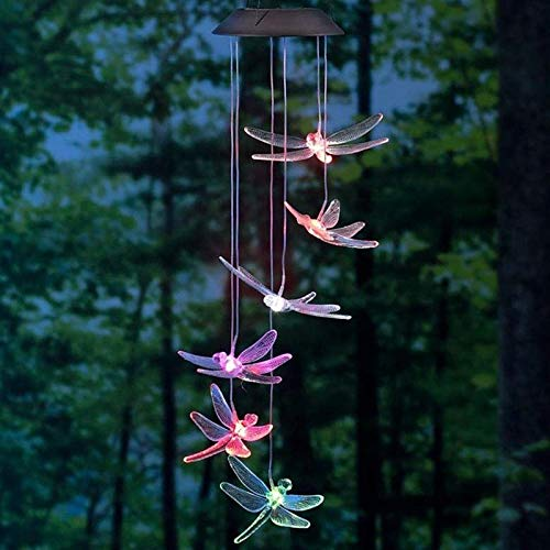 (Color-Changing LED Solar Dragonfly Mobile)