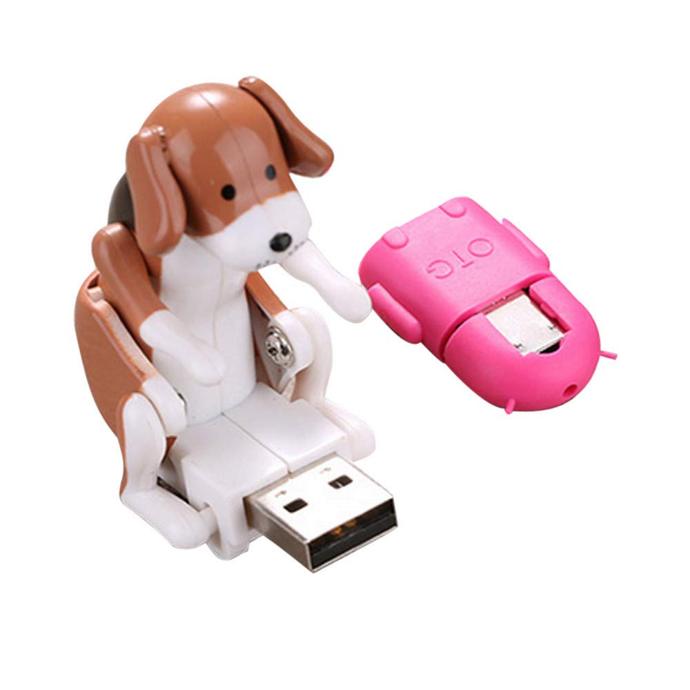 Fiudx Children's Gifts Funny Cute USB Pet Humping Spot Dog Toy Relief Stress