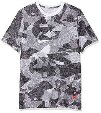 Nike Men's Ki Dry Df Aop Camo T-Shirt, White, Large