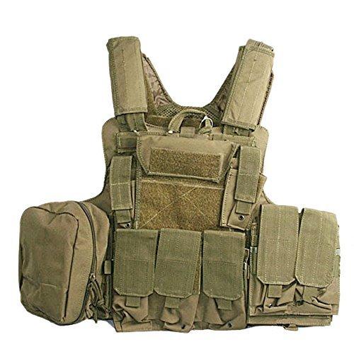 ATAIRSOFT WorldShopping4U Militaire Armée Lourd Devoir Molle Combat Gilet Entraînement de Protection Sécurité Gilet avec… 4