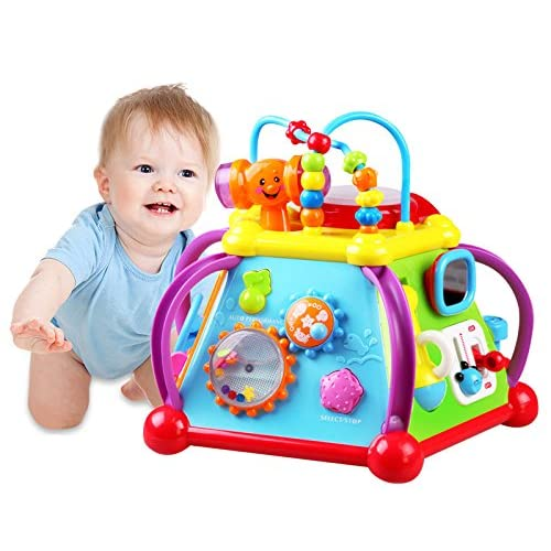 Liberty Imports 15-in-1 Musical Activity Cube Educational Game Play Center Baby Toy with Lights and Sounds for Early Learning and Development