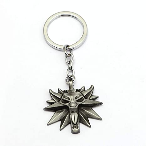 Mct12-12pcs/lot The Witcher 3 Medallion Wild Hunt Keychain ...