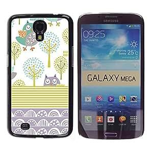 TopCaseStore / la caja del caucho duro de la cubierta de protección de la piel - Abstract Gold Drawing White - Samsung Galaxy Mega 6.3 I9200 SGH-i527