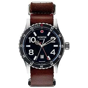 Nixon Diplomat Black / Brown A269019-00 - Reloj analógico de cuarzo para hombre, correa de cuero color marrón