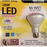 65 Watt Replacement LED Dimmable Br30 Flood