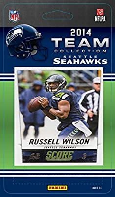 Seattle Seahawks 2014 Score NFL Football Factory Sealed 13 Card Team Set with Russell Wilson, Marshawn Lynch, Richard Sherman Plus