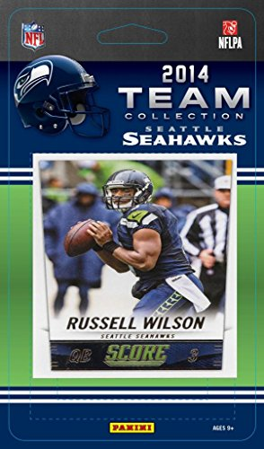 (Seattle Seahawks 2014 Score NFL Football Factory Sealed 13 Card Team Set with Russell Wilson, Marshawn Lynch, Richard Sherman Plus)