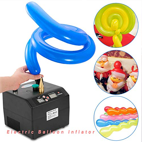 Electric Balloon Inflator TBVECHI Portable 1 Tip Electric Balloon Air Pump Inflator Blower Party Decor -