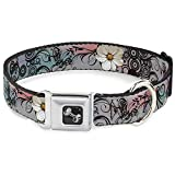 Buckle-Down Seatbelt Buckle Dog Collar – Flowers w/Filigree Pink – 1″ Wide – Fits 15-26″ Neck – Large For Sale
