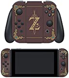 """Controller Gear Nintendo Switch Skin & Screen Protector Set, Officially Licensed by Nintendo - The Legend of Zelda: Breath of the Wild: """"Sheikah Slate"""" - Joy-Con Only - Nintendo Switch;"""