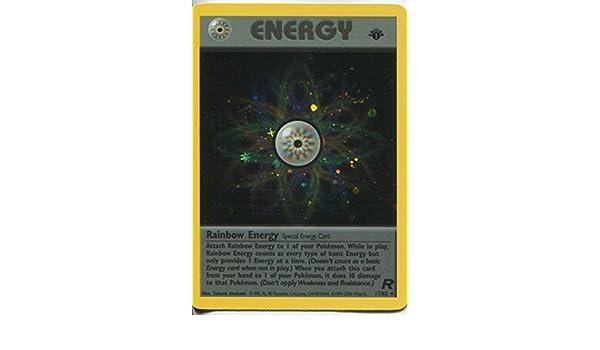 Amazon.com: Pokemon Team Rocket 1st Edition Holofoil Card #17/82 Rainbow Energy: Toys & Games