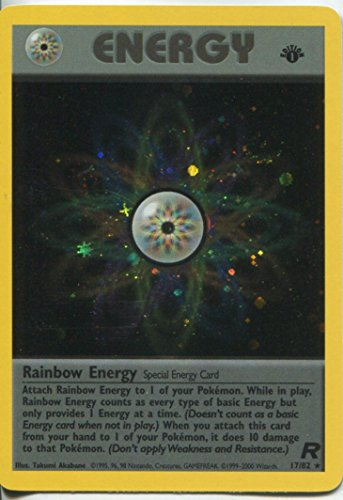 - Pokemon Team Rocket 1st Edition Holofoil Card #17/82 Rainbow Energy