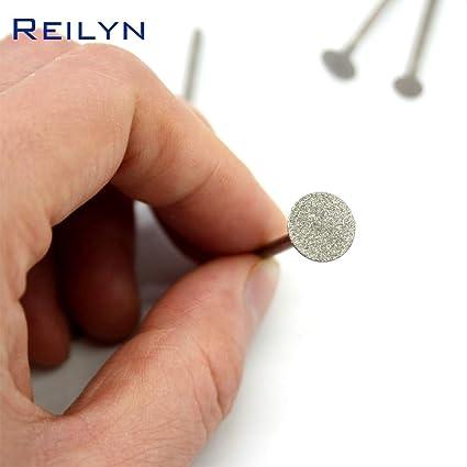 Anncus Emergy Diamond Abrasive Grinding Burr K-Type Teeth Grinding bits Abrasive Head for die Grinder//dremel//Rotary Tools Mesh: 0.5mm, Color: 24 pcs