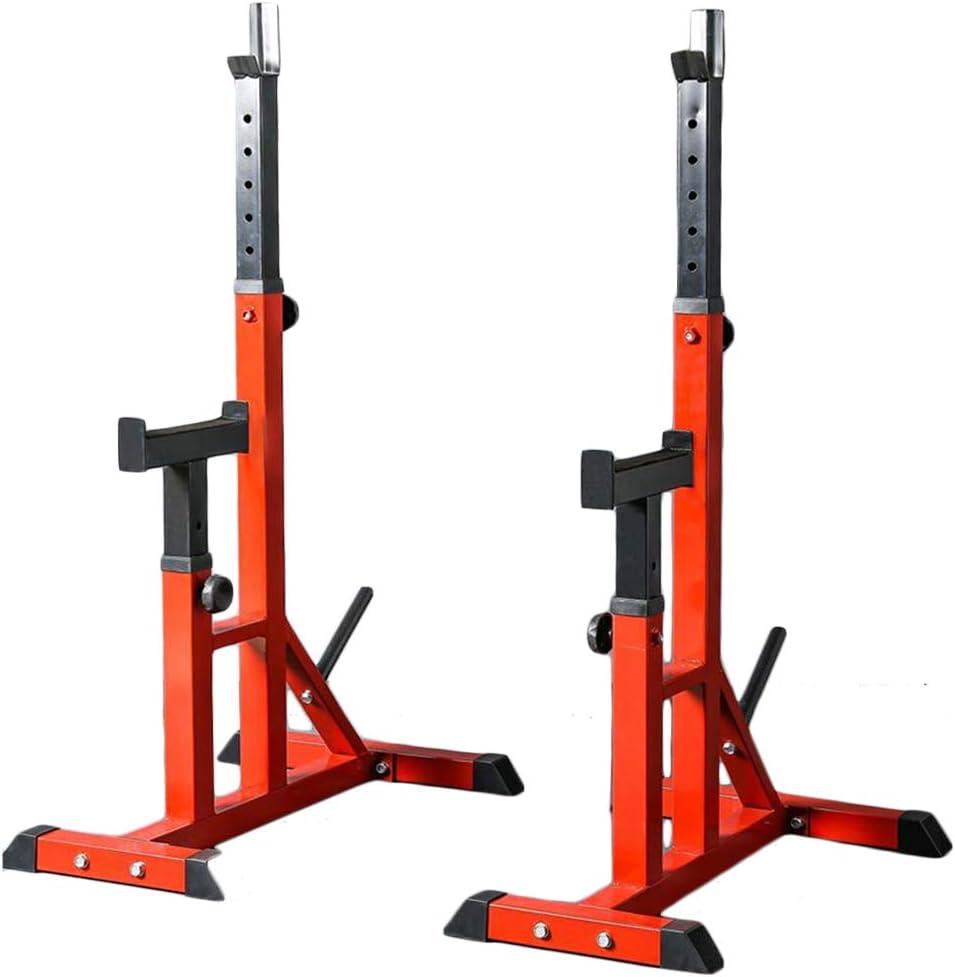 AKT Adjustable Barbell Stand Split Squat Rack Bodybuilding Gym Weightlifting Support Weight Bracket Load 200kg