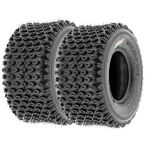 Set of 2 SunF A012 XC Sport-Racing ATV/UTV Off-Road Tires 18x9.5-8, 6PR, Knobby Tread