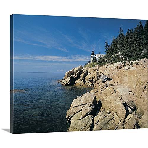 Bass Harbor Lighthouse, Acadia National Park, Maine, USA Canvas Wall Art Print, 20