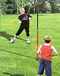 Multi Use Tether Tennis and Soccer Ball Set For Adults Kids and Pets (Height Adjustable) Pump and Ground Stakes Included
