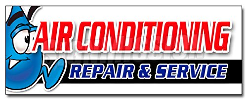 "36"" AC REPAIR & SERVICE DECAL sticker hvac air conditioning estimates finance"