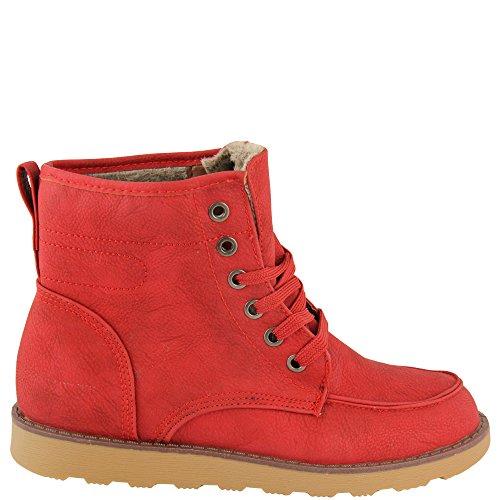 rouge Chaussures V1145 Rouge Chaudes Noir À Knöchelhoch Lacets Fourrées bleu nYwfBrHY