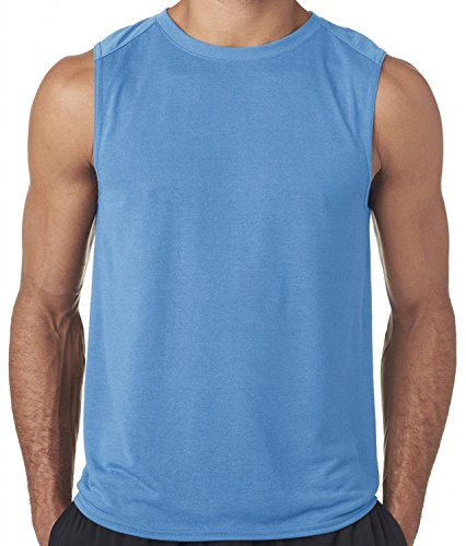- Hat and Beyond Mens Active Muscle Tank Top Fit Workout Gym Shirts 1TAA0001 (X-Large, Carolina Blue)