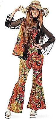 Limit Sport - Disfraz de hippy estampado para mujer, talla S ...