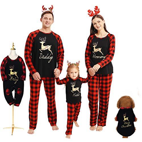 Borlai Pijamas Navidad para Familias Navideños