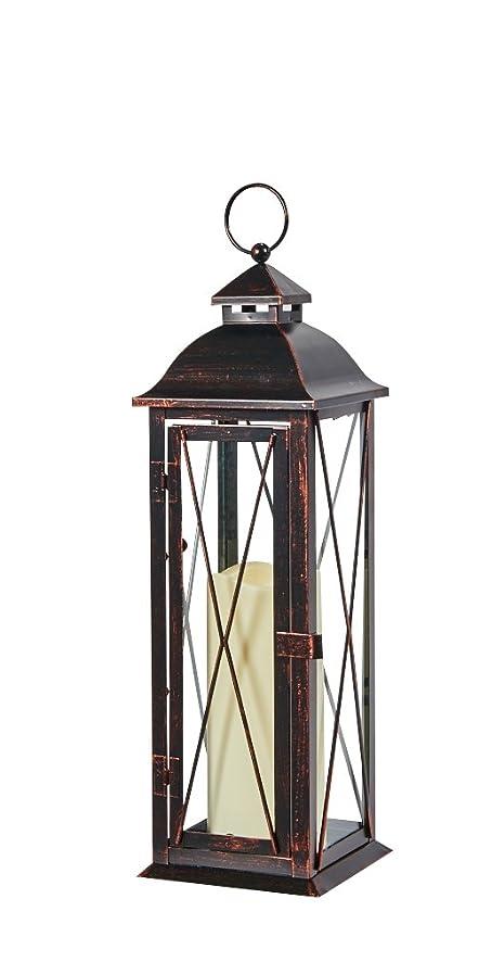 Amazon.com : Smart Design STI84036LC Siena Metal Lantern with LED ...