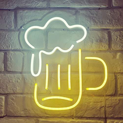 "Barnyard Designs Neon Sign, 5V Light Up Beer Sign, Neon Wall Sign Decor for Bedroom, Bar, Pub, Man Cave, 12.5"" x 12"" x 2"""