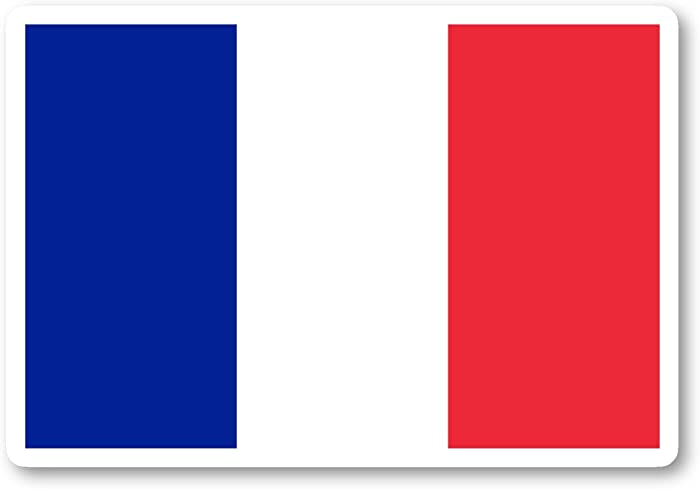 """France Flag French Flag Sticker Flags Stickers - Laptop Stickers - 4"""" Vinyl Decal - Laptop, Phone, Tablet Vinyl Decal Sticker S140782"""