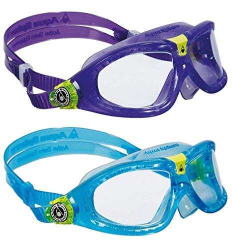 Aqua Sphere KIDS Seal 2 Pack Swim Goggles, Violet + Aqua