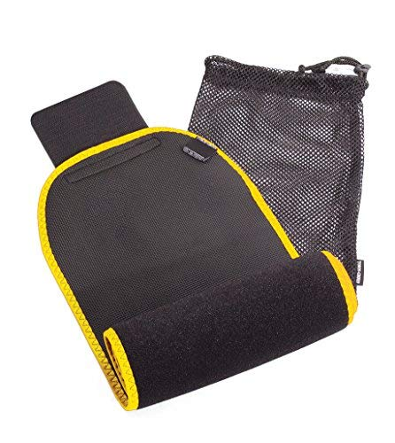 Waist Trimmer Neoprene Ab Slimming Belt - Belly Fat Burning Sauna Large Black- Yellow
