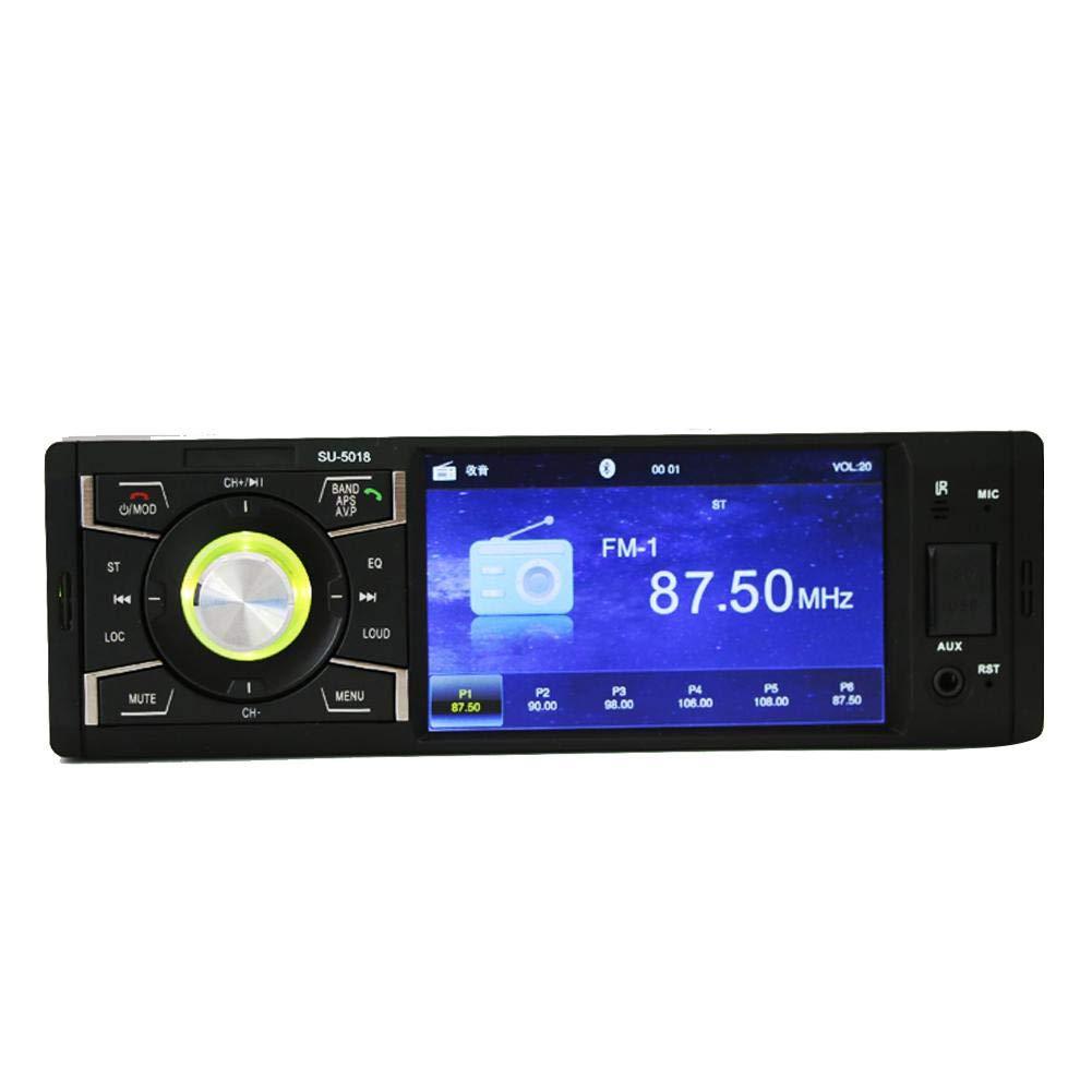 runnerequipment Radio FM Bluetooth Reproductor MP5 4.1 Pulgadas 1 DIN Car Radio Audio est/éreo Se Puede conectar a la c/ámara de visi/ón Trasera