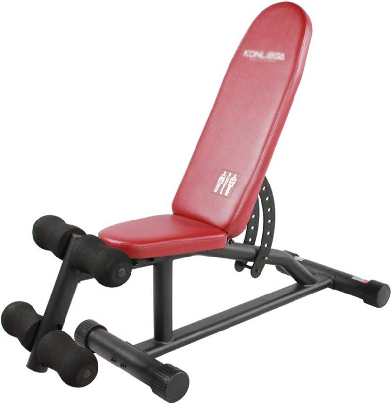 ダンベルベンチホーム小鳥フィットネス機器仰臥位ボード腹部機械腹部椅子 トレーニングベンチ (Color : 黒, Size : 141 * 44 * 106cm) 黒 141*44*106cm