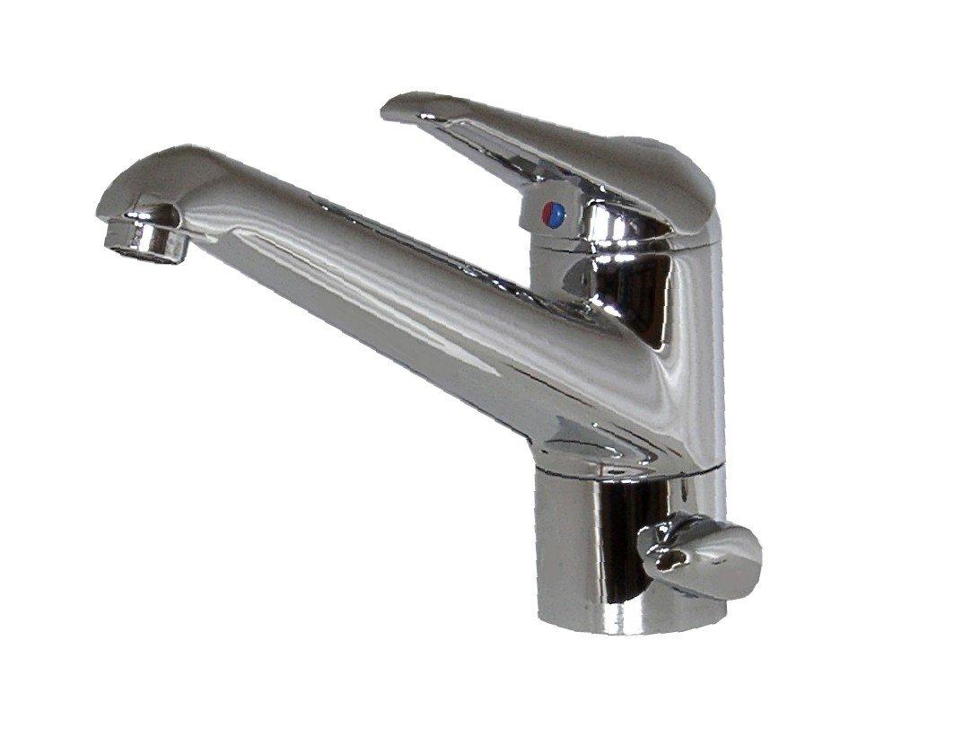 Einhebel Küchenarmatur mit Geräteanschluss,Chrom. Hochdruck: Amazon ...